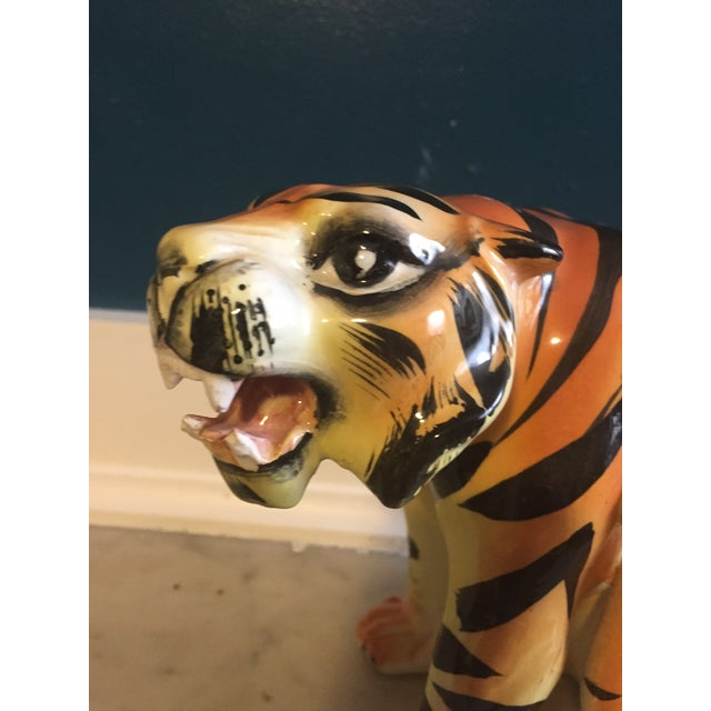 Mid-Century Crouching Tiger Cache Pot - Image 7 of 7