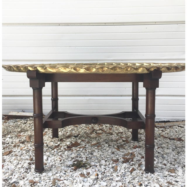 Brass Tray Coffee Table Vintage