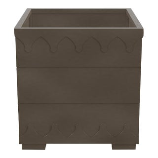 Ocean Drive Outdoor Planter Small, Dark Gray For Sale