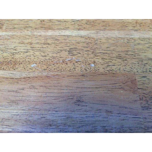 Shabby Chic Farm Table - Oak Top For Sale - Image 10 of 11