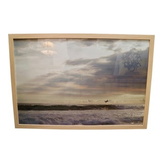 Custom Framed Large Surfer Photo For Sale