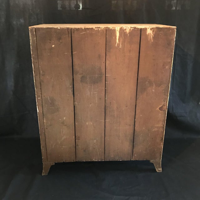 Tan Antique British Scrubbed Pine Chest of Drawers For Sale - Image 8 of 9