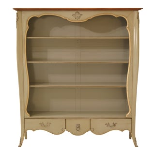 French Paint Decorated Open Bookcase For Sale