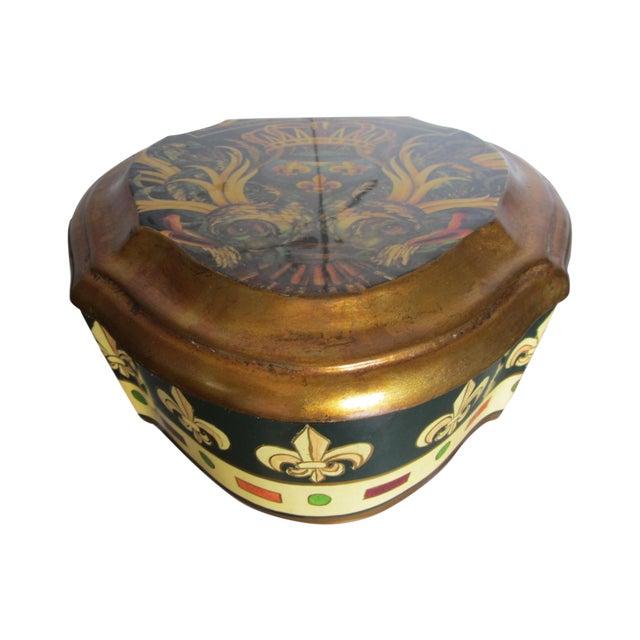 Vintage Enamel Koi Fleur De Lis Box - Image 1 of 10