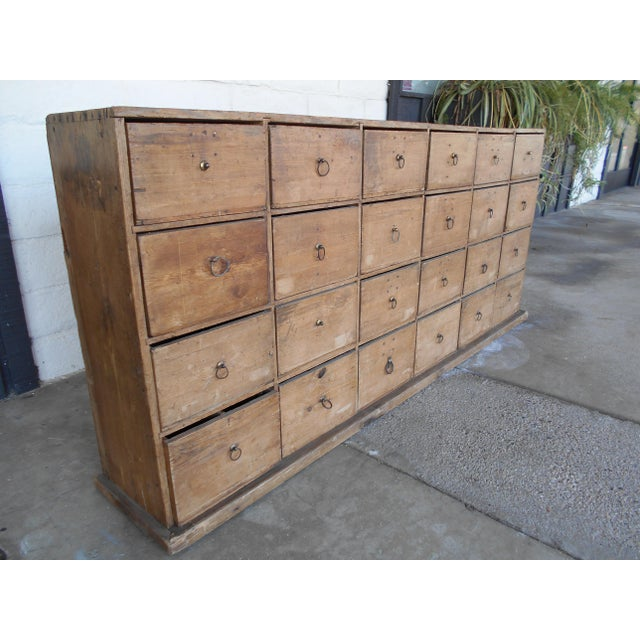 24 Drawer Pine Apothecary Cabinet For Sale - Image 4 of 10