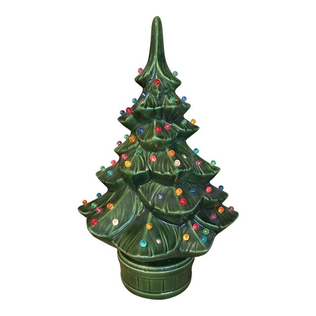 1970s Vintage Ceramic Christmas Tree