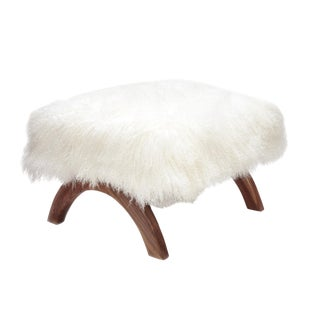 Curly JJ Walnut Foot Stool For Sale