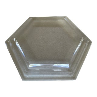 1980s Lucite Hexagon Display Plinth For Sale