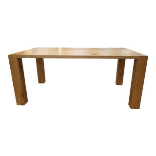 Modern Solid Oak Dining Table For Sale