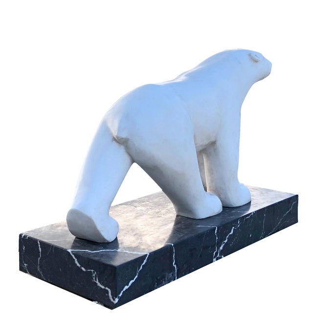 Mid 20th Century 20th Century Polar Bear After Francois Pompon For Sale - Image 5 of 7