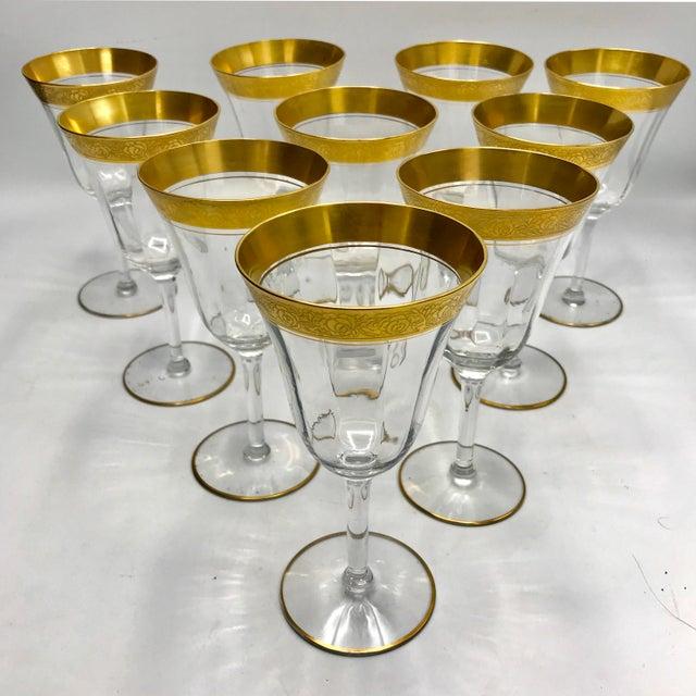 Crystal 1930s Vintage Tiffin Franciscan Rambler Rose Crystal Stemware - Set of 26 For Sale - Image 7 of 8