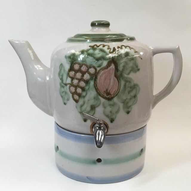Vintage Pottery Beverage Dispenser - Image 2 of 8
