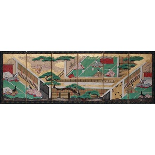 17th C. Japanese the Tale of Genji Byobu Screen For Sale