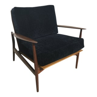 1950s Danish Modern Ib Kofod-Larsen Teak Lounge Chair For Sale