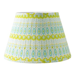 "Kathryn Pleated 14"" Lamp Shade, Lime For Sale"