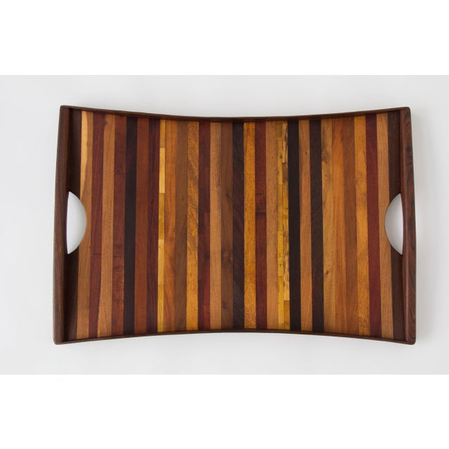 Don Shoemaker for Señal Rosewood Handled Tray - Image 2 of 10