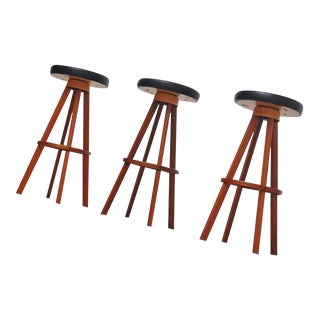 Hans Olsen bar stools for Frem Rojle Denmark 1960 For Sale