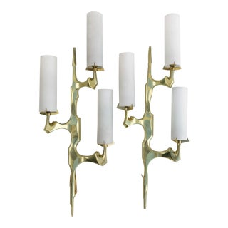 1960s Vintage Felix Agostini for Maison Arlus Sconces- A Pair For Sale