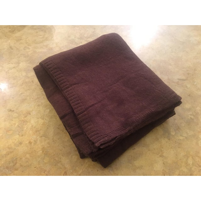 Chocolate Brown Cashmere Blanket - Image 3 of 10