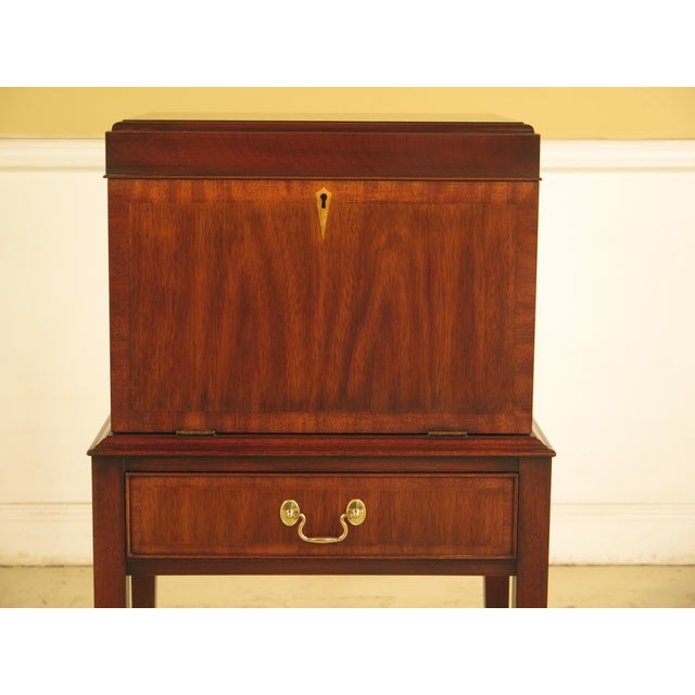 A HENKEL HARRIS Inlaid Mahogany Model #2529 Silver Chest. Age: C.1994 Details: #29 Finish Model 2529 High Quality...