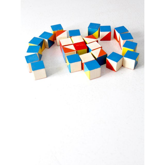 Play with colors and patterns with these vintage Playskool Color Cubes. Thousands of designs can be created from the 25...