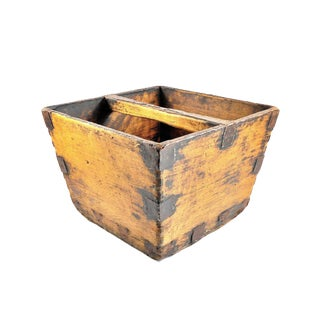 1920s Vintage Chinese Rice Bucket For Sale