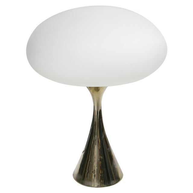 Bill Curry for Laurel Brass Mushroom Lamp For Sale