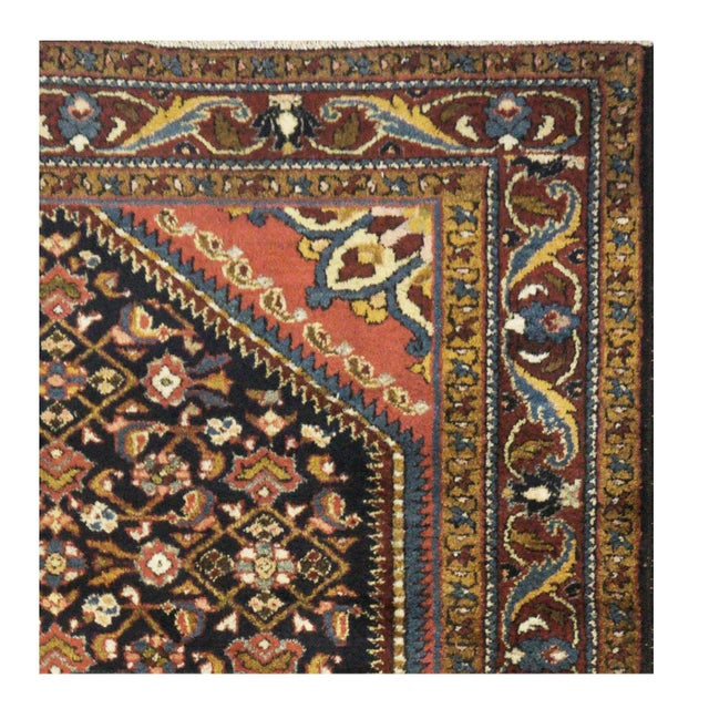 "Islamic Antique Persian Hamedan Rug - 4'6"" x 6'11"" For Sale - Image 3 of 5"