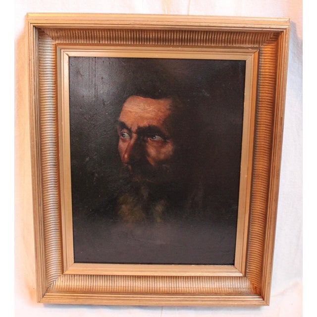 Vintage Portrait of a Man Painting - Image 2 of 5