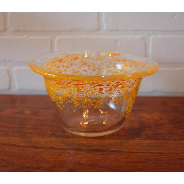 Contemporary Hand Blown Glass Decorative Bowl For Sale - Image 3 of 4