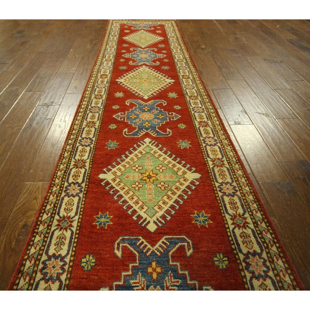 "Shirvan Red Kazak Runner Rug - 2'8"" x 9'6"" - Image 6 of 10"
