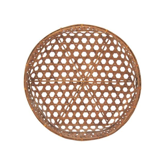 Large Round Asian Basket - Image 1 of 7