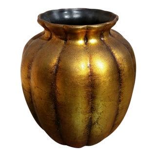 Vintage Gold Leafed Ceramic Vase