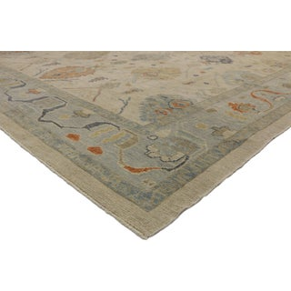 "Contemporary Turkish Oushak Large Area Rug - 10'10"" X 15'00"" Preview"