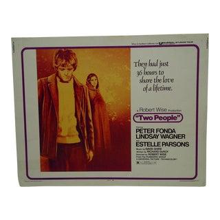 "Vintage Movie Poster ""Two People"" Peter Fonda & Lindsay Wagner 1973"