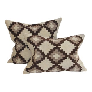 19th Century Navajo Indian Weaving Pillows - a Pair For Sale