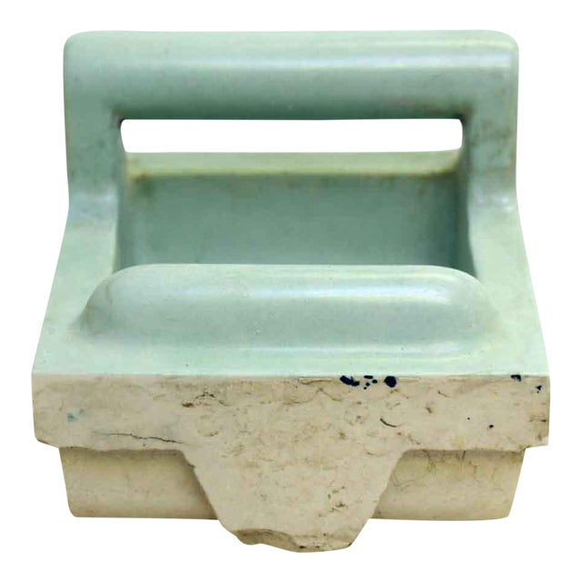 Vintage Green Soap Porcelain Dish - Image 1 of 7