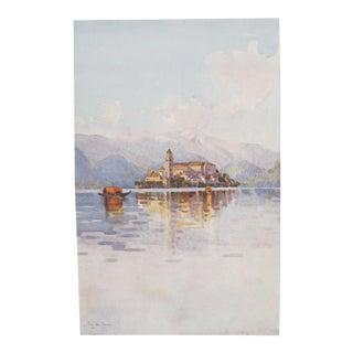 1905 Ella Du Cane Italian Lake Print, Isola San Giulio, Lago d'Orta For Sale