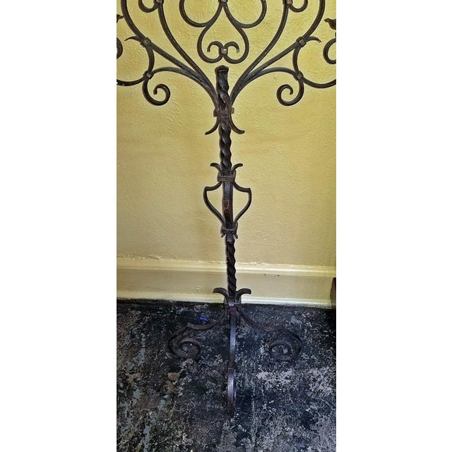 18c Spanish Cast Iron Floor Candelabra - Image 9 of 10