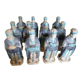 Ming Dynasty Zodiac Tomb Figures - Set of 12 For Sale