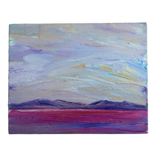 Pastel Sunset Oil Painting