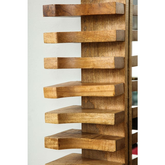 Unusual Slatted Wooden Mirror For Sale In New York - Image 6 of 8