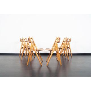 "Danish Modern ""Sawbuck"" Ch-29 Dining Chairs by Hans J. Wegner Preview"
