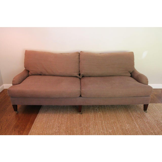 """Offered is a beautiful, stylish and comfortable sofa! The seller says: """"I bought this sofa about 7 years ago because I was..."""