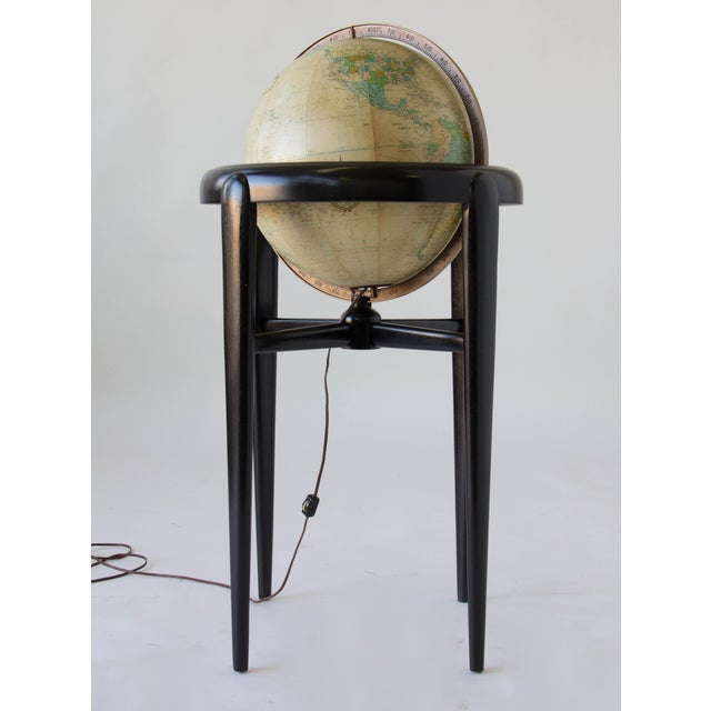 Replogle Illuminating Globe On Wooden Stand Chairish