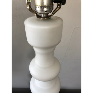 Mid Century Lindshammar Sweden White Glass Table Lamp Preview