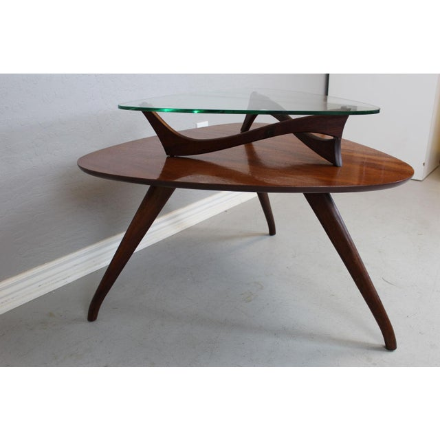 Vladimir Kagan-Style Two-Tier Side Table For Sale - Image 9 of 9