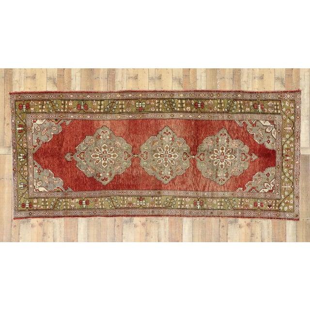 Vintage Turkish Oushak Gallery Rug, Wide Hallway Runner - 05'01 X 11'04 For Sale - Image 11 of 11