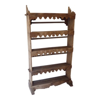19th Century Weathered Basque Standing Plate Rail For Sale
