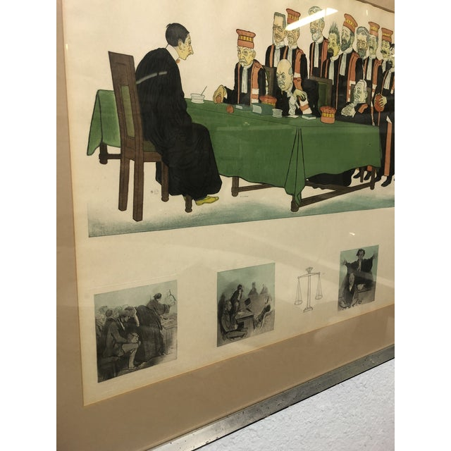"""Early 20th Century Framed Wall Art, """"Passing the Bar"""" by Adrien Barrere For Sale - Image 4 of 11"""